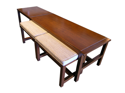 Dunbar Coffee Table with Stools
