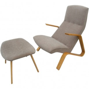 Grasshopper Chair and Ottoman by Eero Saarinen