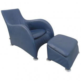 Loge lounge chair and ottoman