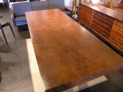 Machine Age New Englands Largest Selection Of Midth Century - Burled walnut dining table