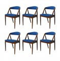 Set of 6 Kai Kristiansen chairs