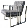 Chrome armchair