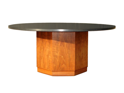 [SOLD]Slate And Walnut Coffee/Cocktail Table By Fred Kemp