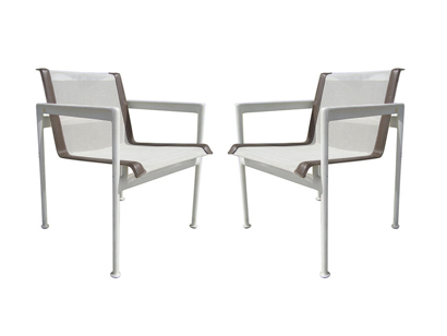 [SOLD] Pair Of Outdoor Dining Chairs By Richard Schultz For The 1966  Collection