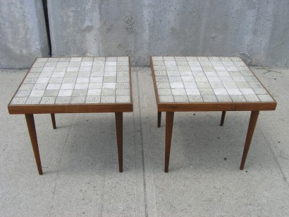 Machine Age U2013 New Englandu0027s Largest Selection Of Mid 20th Century Modern  Furniture | Pair Of Danish Teak And Ceramic Tile Side Tables