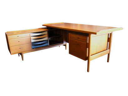 L Shaped Desk And Credenza By Arne Vodder For Sibast