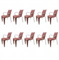 Set of 10 Louis 20 Armchairs