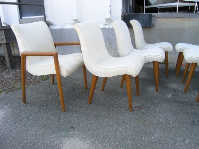 Set Of 8 Dining Chairs By Russel Wright For Conant Ball