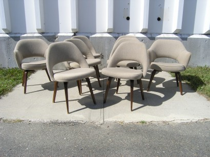 [SOLD] Set of Eight Dining Chairs with Wood Legs by Saarinen for Knoll & Machine Age u2013 New Englandu0027s Largest Selection of Mid-20th Century ...