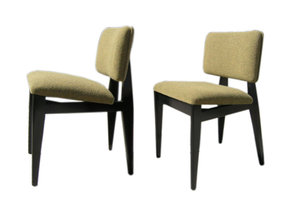Ebonized Birch Side Chairs By George Nelson For Herman Miller