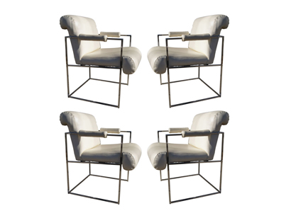 [SOLD] Set Of Four Dining Chairs By Milo Baughman For Thayer Coggin