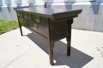 [SOLD]Asian Influenced Five Drawer Console Table By Century Furniture Of  Disctinction