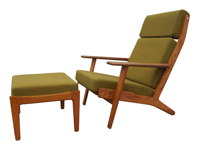 Charmant High Back Lounge Chair And Ottoman By Hans Wegner For Getama