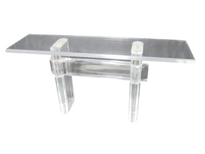 Lucite Console Table By Karl Springer