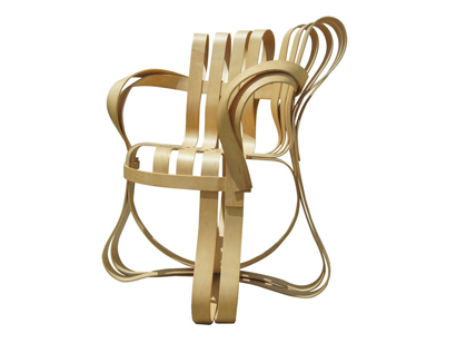 [SOLD] Cross Check Bent Plywood Arm Chair By Frank Gehry For Knoll
