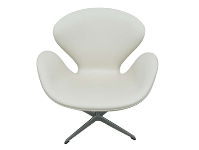 [SOLD] Classic Leather Swan Chair By Arne Jacobsen For Fritz Hansen