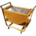 Drop-Leaf Tea Cart by Edward Wormley for Dunbar