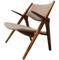 CH-28 Sawback Easy Chair by Hans Wegner for Carl Hansen & Son