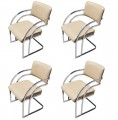 Set of Four Chrome Chairs after Pace