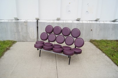 [SOLD] Leather Marshmallow Sofa By George Nelson For Herman Miller