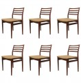 Set of Six Rosewood Dining Chairs by Niels Moller