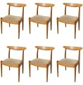 Set of Six Dining Chairs by Hans Wegner for C. M. Madsens