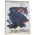 Large Framed Poster for Joan Miró Exhibition 1974