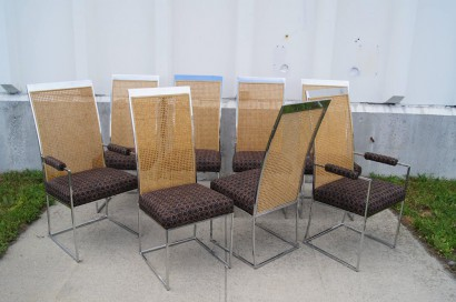 Machine Age U2013 New Englandu0027s Largest Selection Of Mid 20th Century Modern  Furniture | Set Of Eight High Back Cane Dining Chairs By Milo Baughman For  Thayer ...