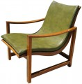 Rare Leather Embossed Lounge Chair by Edward Wormley for Dunbar