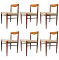 Set of Six Rosewood Dining Chairs by H W Klein for Bramin Møbler