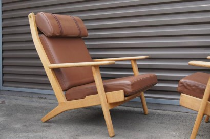 Machine Age U2013 New Englandu0027s Largest Selection Of Mid 20th Century Modern  Furniture | [SOLD] Oak And Leather High Back Chair, GE 290, By Hans Wegner  For ...
