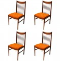 Set of Four Teak Dining Chairs by Arne Vodder for Sibast