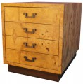 Small Olive Burl Wood Chest of Drawers by Dunbar